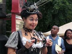 Steampunk (Multielvi) Tags: baltimore maryland md city charm flower mart woman steampunk candid portrait