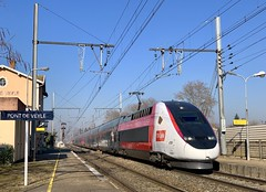 TGV Euro Duplex 3UA 4719 (SylvainBouard) Tags: tgveuroduplex railway train cff lyria sncf