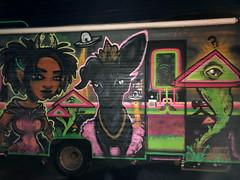 Vivid Vision    (42) (newenglandgal) Tags: flickrlounge interesting 365 painted art van transportation 119in2019 acidgreen green 52weeks vehicle