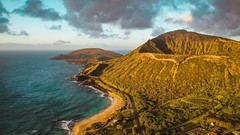 Koko Head at Sunrise (Corey Rothwell) Tags: drone aerial hawaii ocean beach sunrise
