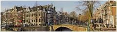 February Sun (Hans Veuger) Tags: nederland thenetherlands amsterdam amsterdamcentrum keizersgracht reguliersgracht canals grachten stitch panorama nikon b700 coolpix nederlandvandaag twop unlimitedphotos grachtengordel wittewijn