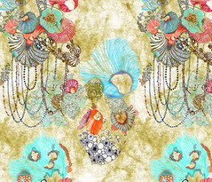 mimipinto spoonflower (MimiPintoArt) Tags: home decor wall panel art bedding cushions curtains duvet covers quilting patchwork whimsical fantasy steampunk watercolor fabric textiles sewing crafts diy stitch embroidery handbags tote makers creatives