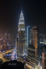 The Icon (Mohamad Zaidi Photography) Tags: twintower kualalumpur night cityscape architecture capital malaysia commercial nightlife city travel building sunset water light sky street blue urban