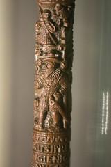 Carving on walking stick (quinet) Tags: 2017 amsterdam antik netherlands rijksmuseum schnitzerei ancien antique carving museum musée sculpture