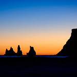 Reynisdrangar - Sea Stacks near Vik - photo from the parking lot thumbnail