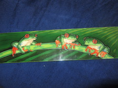 Treefrogs on a branch, a tile (d.kevan) Tags: tile ceramics branch frogs treefrogs animals myflat inheritance