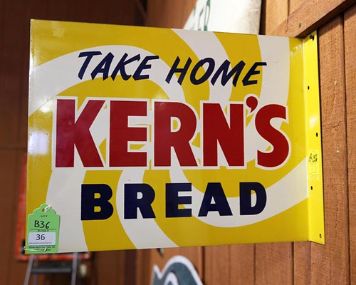 Kern's Bread Metal Lithograph Flange Sign ($257.60)
