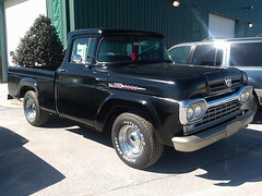 1960 Ford F-100 (splattergraphics) Tags: 1960 ford f100 pickup truck swapmeet sugarloafmountainregionaaca carrollcountyagriculturalcenter westminstermd