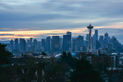 New Year's Day Seattle 3 (C.M. Keiner) Tags: seattle washington usa city cityscape skyline mountains pacific northwest puget sound 2019 new years day sunrise urban clouds silhouette