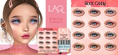 NEW! Glitter lashes for LAQ heads! (Tarani Tempest) Tags: secondlife shinystuffs laq