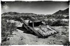 Stuck!! (East of 29) Tags: stuck joshuatreenationalpark monochrome blackwhite old truck wilderness desert ford tex sliderssunday
