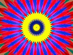 Twelve Times Two (Kombizz) Tags: c454 kombizz kaleidoscope experimentalart experimentalphotoart photoart epa samsung samsunggalaxy fx abstract pattern art artwork geometricart yellow red blue green twentyfour twelvetimestwo darkblue suspendedinyellow