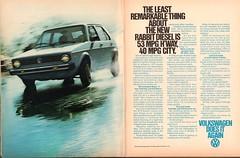 1978 Volkswagen Rabbit Diesel Advertisement Playboy September 1978 (SenseiAlan) Tags: 1978 volkswagen rabbit diesel advertisement playboy september