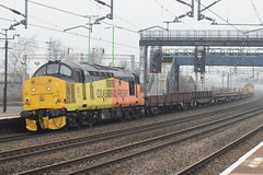 CR 37175 @ Rugeley Trent Valley train station (ianjpoole) Tags: colas rail class 37 tractor 37175 rear 6c37 willesden west london junction crewe basford hall ssm
