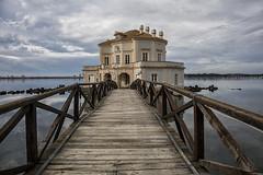 Casina Vanvitelliana (michelina cipro) Tags: architettura mare cielo nuvole napoli ponte scogli bacoli passerella acqua barca