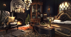 When Words Fade And Things Come Alive (Sienna Skye Foxdale) Tags: sayo nutmeg mudhoney madras uber acorn applefall foxwood plastik backbone homeandgarden homedesign home interiordesign indoors interior room roomdesign bedroom dark night blue mood candles hive