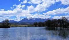 Springtime in the Rockies (Patricia Henschen) Tags: mountains collegiatepeaks sawatch range clouds trees frantzlake swa statewildlifearea salida colorado mt antero 14ers princeton upperarkansasvalley shavano tabegauche peak spring lake reflection