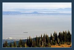 Vancouver Island Viewed from Hurrican Ridge - 1992 (sjb4photos) Tags: canada britishcolumbia straitofjuandefuca hurricaneridge olympicnationalpark epsonv500 vancouverisland salishsea