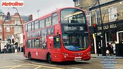 METROLINE LONDON VOLVO B9TL WRIGHT GEMINI 2 LK11 CYO KILBURN HIGH ROAD 16022019 (MATT WILLIS VIDEO PRODUCTIONS) Tags: metroline london volvo b9tl wright gemini 2 lk11 cyo kilburn high road 16022019