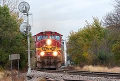 ESS Oregon (GRNDMND) Tags: trains railroads bnsf locomtive emd sd75m oregon illinois