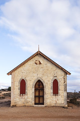 Methodist Church (1885): Front View (oz_lightning) Tags: australia canon6d canonef1635mmf4lis nsw silverton westerndivision architecture building church decay history newsouthwales aus