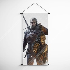 The Witcher 51 Geralt Decorative Banner Flag for Gamers (gamewallart) Tags: background banner billboard blank business concept concrete design empty gallery marketing mock mockup poster template up wall vertical canvas white blue hanging clear display media sign commercial publicity board advertising space message wood texture textured material wallpaper abstract grunge pattern nobody panel structure surface textur print row ad interior
