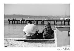 Tourists (Aljaž Anžič Tuna) Tags: tourists couple big seaside sea special portorose portorož slovenia photo365 project365 people onephotoaday onceaday 365 35mm 365challenge 365project nikkor nice naturallight nikon nikond700 nikkor50mm 50mm 50mmf18 dailyphoto day d700 bw blackandwhite black white blackwhite beautiful