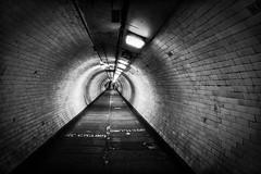 Greenwich Foot Tunnel (Crisp-13) Tags: london greenwich foot tunnel black white monochrome