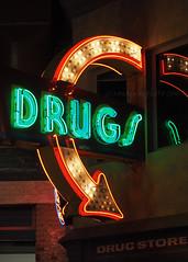 Drugs (.annajane) Tags: cincinnati museum ohio americansignmuseum signs drugs drugstore neon sign advert advertising electronicsign