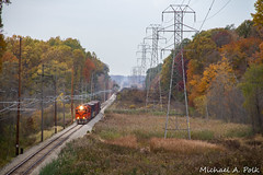 CSS 2004 @ Smith Township, IN (Michael Polk) Tags: chicago south shore bend railroad emd gp382 freight train michigan city smith fall color tree interurban css 2004