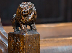 There came a lion... (+Pattycake+) Tags: wortham stmarys suffolk pewends pew carvings wood interior church