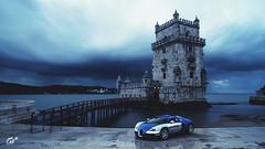 Bugatti Veyron (at1503) Tags: portugal sky clouds darkclouds architecture bugatti veyron blue bugattiveyron dramatic brooding silver stone storm stormcloud frenchcar supercar gtsport granturismo granturismosport motorsport racing game gaming ps4