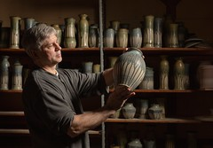 Handmade ... (geryllz) Tags: potter pottery create creative creativity ceramic clay wheel man hand handmade handwork make craft craftsman craftsmanship people pot meadville meadvillepa crawfordcountypa art artist artistry skill skills createart 5dmarkiii