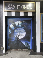 Beetlejuice The Musical Winter Garden Theater Marquee 4382 (Brechtbug) Tags: beetlejuice the musical winter garden theater marquee display 2019 nyc broadway 7th ave 51st street ben cooper halco collegeville monster creature graveyard ghoul dead guy moss hair green stripes fashion mutants villains tim burton film movie 1988 80s 1980s figure hell purgatory beatle beetle juice ghost with most michael keaton possession exorcist betelgeuse exorcism haunt