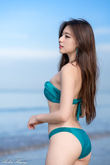 DSC_9165 (Robin Huang 35) Tags: 謝立琪 kiki 沙巴 sabah 馬來西亞 malaysia 丹絨亞路 海邊 海灘 沙灘 beach 泳裝 比基尼 bikini 遊拍 人像 portrait lady girl nikon d850 亞庇縣 my 亞庇