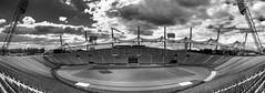 Olympic stadium Munich (MAICN) Tags: x100f architektur mono panorama sw fujifilm olympia münchen bw blackwhite monochrome schwarzweis fuji architecture munich einfarbig 2019 stadium stadion