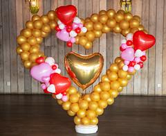 Ballonnen stand hartvorm