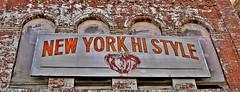 4 Windows (Gerry Dincher) Tags: orangeburg county orangeburgcounty southcarolina russellstreet newyorkhistyle ghostsign apple bricks southcarolinahighway33 4windows boardedup paintedbrick peelingpaint redbrick whitepaint