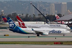Alaska Airlines (So Cal Metro) Tags: airline airliner airplane aircraft aviation airport n448as plane jet lax losangeles la alaska alaskaair alaskaairlines aag boeing 737