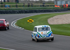 Three wheels on my wagon - into Madgwick at least... (Jez B) Tags: goodwood members meeting 2019 circuit track course racing race grrc road club historic classic mini madgwick corner cocking wheel air