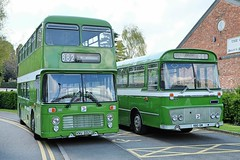 Preserved United Counties Bristol VRT ECW 882 XNV882S & Bedford YRT Willowbrook 001 111 RBD111M fresh from Reliance Busworks at Wellingborough Bus Rally 14 April 2019 (Mark Bowerbank) Tags: preserved united counties bristol vrt ecw 882 xnv882s bedford yrt willowbrook 001 111 rbd111m fresh from reliance busworks wellingborough bus rally 14 april 2019