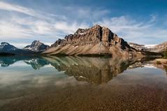 Crowfoot Mountain and Bow Lake (birgitmischewski) Tags: bowlake crowfootmountain alberta canada lake reflection mountain banffnp