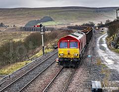 66074 at Garsdale on 22 Dec 18. (John_Hales) Tags: ribblehead preston rail railway train trains settle carlisle class66 shed dbc dbcargo locomotive bleamoor networkrail cumbria gypsum
