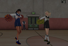 21st Century Valkyries (Teddi Beres) Tags: second life sl virtual cheerleader rival gym high school combat dance battle heels shoes sneakers fashion style sport