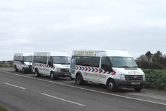 Albies Taxis NL59 KCZ NM08 DWC & YT14 MFN at Trimingham 030119 (return2layerroad) Tags: albiestaxis greatyarmouth triimingham fordtransit nl59kcz nm08dwc yt14mfn norfolk