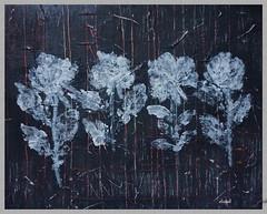 FOUR WHITE ROSES (Fimeli) Tags: painting leinwand canvas acrylfarben acrylic handmade handwork