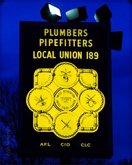 UA Local 189 Plumbers & Pipefitters (TheeErin) Tags: columbus ohio aflcio ua local 189 plumbers pipefitters night dusk sign logo trade id unitedstates usa fidelity education benevolence protection local109 union organize