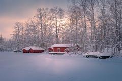 Boat houses (Jyrki Salmi) Tags: jyrki salmi pyhtää finland winter day snow river boathouses