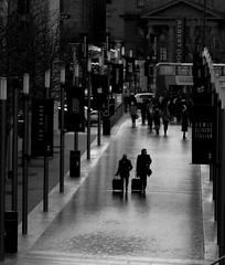 Liverpool - rained off mid-week (ronramstew) Tags: liverpool weather rain winter people tourists bw balckandwhite