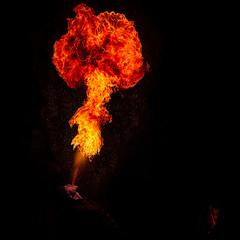 Fire-Eater To Tokyo's Palace #6 ~ France // Paris ~ (Yannick Lefevre) Tags: europe france paris palaistokyo night portrait 50mm nikon nikkor fireeater cracheurdefeu flamme fire burn design flickr life artist art